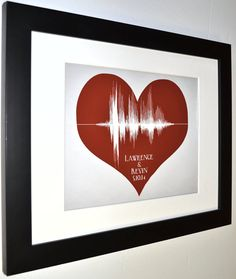 Gay wedding gift for gay couples, anniversary gay men heart art print, gay…