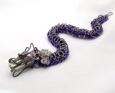 Dragon Jewelry Chainmaille Bracelet by organicmetallurgy on Etsy