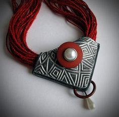 "Textured Folded Bead using Pixie Art texture stamp ""Starburst""   Flickr - Photo Sharing!"