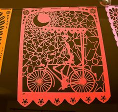 Papel picado wow this is gorgeous!! bike, moon, stars. adore!