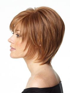 Opening Act by Raquel Welch Wigs- Monofilament, Lace Front Wig – Auburn Hair Styles Short Shag Hairstyles, Best Short Haircuts, Straight Hairstyles, Short Hair With Layers, Layered Hair, Short Hair Cuts, Layered Bob Short, Layered Cuts, Hair Styles For Women Over 50