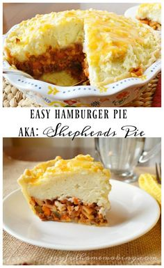 Hamburger Pie Shepherd's Pie – easy, filling and family friendly! Related posts: Low Carb Hamburger Pie – Mein produktiver Hinterhof Hamburger and Sausage Pie Low Carb Hamburger Pie Hamburger Casserole (like Shepard's Pie) Pie Recipes, Cooking Recipes, Dinner Recipes, Quick Recipes, Healthy Recipes, Best Comfort Food, Comfort Foods, Hamburger Pie, Kitchen
