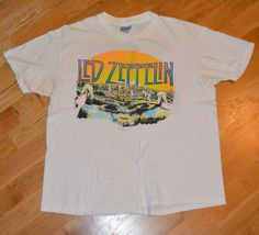 RaRe *1984 LED ZEPPELIN* vtg swan song rock concert shirt (L/XL) 80s Jimmy Page   Clothing, Shoes & Accessories, Vintage, Men's Vintage Clothing   eBay! Vintage Concert T Shirts, Concert Shirts, Rock Concert, Vintage Rock, Vintage Tees, Men's Vintage, Swan Song, Jimmy Page, Rock T Shirts