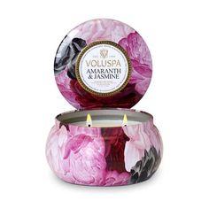 Voluspa Maison Jardin Collection, 2 Wick Metallo Candle, Amaranth and Jasmine