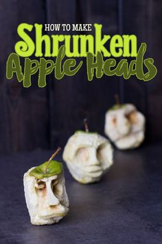 How to Make Shrunken Apple Heads! This inexpensive holiday craft is fun for kids of all ages! #Halloween