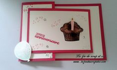 Une carte double pli et son tuto - carte d'anniversaire - card doubles fold - birthday card - tutorial