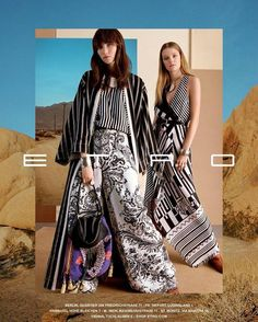 Etro Spring Summer 2017 Ad Campaign - Roos Abels and Grace Hartzel
