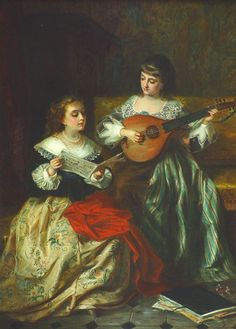 Women and Music in Painting 16-18th c, Frans Moormans The Duet