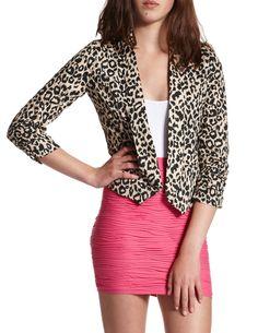 Lightweight Cheetah-Print Blazer....love!