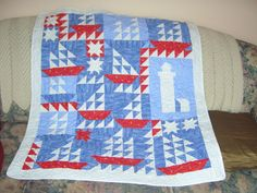Baby sailboat quilt
