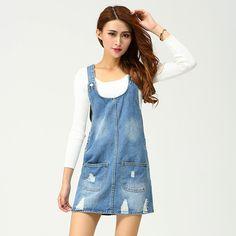 2016 de la moda de primavera jeans falda de liga vestido de vaquero de las mujeres short WYT-88758