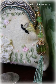 Sweet little coin purse by Heather ~ Heather's hand work can inspire a room