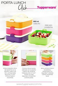 Porta Lunch click #Tupperware - A la venta en: https://www.facebook.com/TienditadeBellezaLaguna/