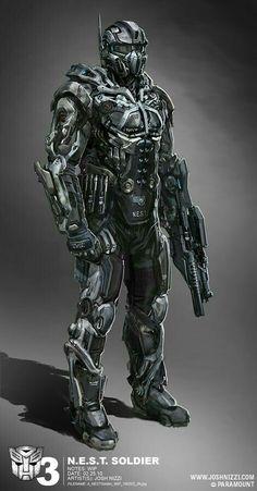 Robot concept art sci fi future soldier 51 Ideas for 2019 Robot Concept Art, Armor Concept, Foto Fantasy, Futuristic Armour, Futuristic Helmet, Combat Armor, Arte Robot, Sci Fi Armor, Future Soldier