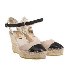 VIDORRETA 14600 Pink Leather Espadrille Sandals | SPANISH SHOP ONLINE