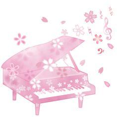桜とピアノイラスト Music Pictures, Musical Instruments, First Love, Musicals, Seasons, Bird, Spring, Printables, Logo