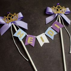 Sofia the First Cake bunting Personalized by GlitzandBowsbyJackie