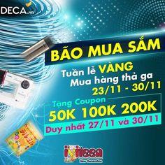 Bão mua sắm - săn coupon vàng chỉ 2 ngày tại Deca.vn - http://www.iviteen.com/bao-mua-sam-san-coupon-vang-chi-2-ngay-tai-deca-vn/ Bên cạnh ngày Black Friday này thì trong khoảng 1 tuần trước và sau ngày Black Friday vẫn luôn có rất nhiều chương trình khuyến mại. Đặc biệt là ngày thứ 2 đầu tiên sau ngày Black Friday, được đặt tên là ngày Online Monday – là ngày mà các website bán hàng Online đồng loạ