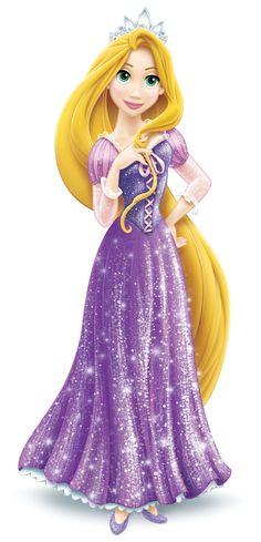 Princess Rapunzel in sparkles