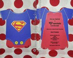 Attractive Superman Shower Invites #4