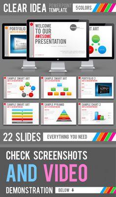 Clear Idea Template - PowerPoint Templates Presentation Templates