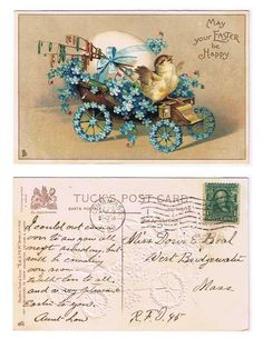 Antiques from the web May Your Easter Be Happy Raphael Tuck & Sons Postcard