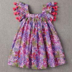 Chloe Dress, Pink Tropical by Nellystella