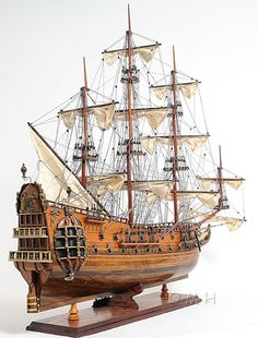 Quality HMS Fairfax Royal Navy Wooden Tall Ship Model With Free Shipping!