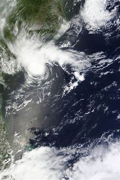 Don't believe the hype. This one is dying fast: NASA satellite image of Tropical Storm Alberto