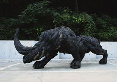 Statue of a Rhino; made out of used tires. Check out this guys website, his other stuff is pretty awesome too.