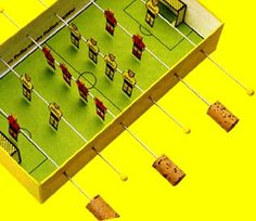 Kicker, Fußball, Sport, selber machen, basteln, Kleber, Mannschaft
