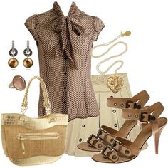 Pretty in Brown, created by sweethoku on Polyvore