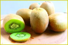 One serving of KIWI: * contains the same amount of fiber as a BOWL of bran cereal. * contains the same amount of potassium as a banana * provides the recommended dietary allowance of vitamin C Best Dessert Recipes, Fun Desserts, Holiday Recipes, Kiwi Popsicles, Bran Cereal, Fruit Kabobs, Chocolate, Healthy, Kid Snacks