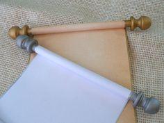 Blank Scroll, Wedding Vows Scroll, Blank Scroll for Handwritten Letter, Scroll with Box, Blank Scrolls, Paper Scroll