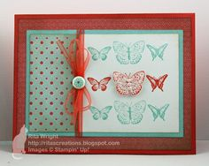 Card made by Rita Wright using multiple Stampin' Up! Sale-A-Bration items...for a particular friend who LOVES butterflies :)