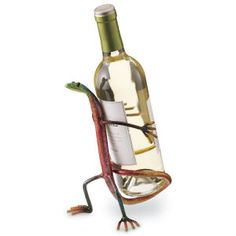Gecko Wine Bottle Holder - Gifts, Clothing, Jewelry, Home Decor and Home Furnishings as Featured in Popular Catalogs | Catalog Favorites