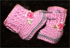 Baby Booties / Baby Shoes / Baby Girl / Baby by SweetnessInSmyrna
