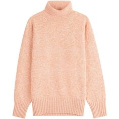 Vanessa Bruno Merino Wool Pullover ($389) ❤ liked on Polyvore featuring tops, sweaters, orange, sweater pullover, turtle neck top, merino wool sweater, merino turtleneck sweater and turtle neck sweater