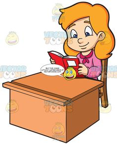 A Girl Enjoying Her Time While Reading Notes Reading Notes, Book Stands, Reading Material, Her Smile, Craft Sale, Wooden Tables, Kids Learning, The Book, Pink