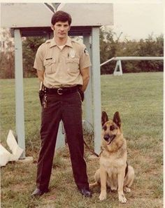 This is Officer Carl Aufner Jr. and his canine partner, Fritz. They served together from 1972-82. Our follower Michelle (Aufner) Lawrence submitted this of her dad, and she said Fritz was one of her best friends growing up!