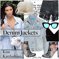 How To Wear Kim Kardashian - Celebrity style -Denim Jackets Outfit Idea 2017 - Fashion Trends Ready To Wear For Plus Size, Curvy Women Over 20, 30, 40, 50