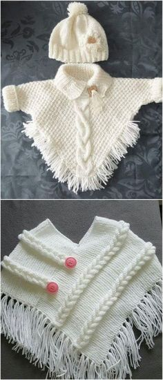 50 New And Easy To Make Free Crochet Pattern - knitting baby patterns , 50 New And Easy To Make Free Crochet Pattern Stylish Baby Wear Free Crochet Pattern Rund ums Kind. Crochet Baby Poncho, Crochet Baby Sweaters, Crochet Baby Clothes, Knit Crochet, Easy Crochet, Crochet Pattern Free, Knitting Patterns Free, Free Knitting, Pull Bebe