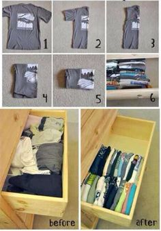 packing tips 17 Packing is not an easy task... (18 photos) Great idea for t-shirt drawer...