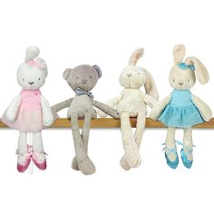 Brand quality Super soft Rabbit and bear Appease baby toys Child's growth partner Can be washed Plush dolls 1pcs Free Shipping #Affiliate
