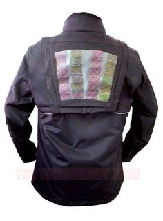 Scottevest solar jacket :  Recharge your USB compatible devices on the go with this solar jacket. The solar panels charge a small battery to power your device. Jackets available for women and men.