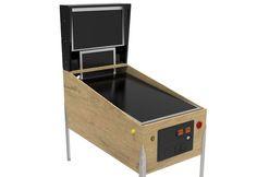 build virtual pinball cabinet legs buttons playfield backbox