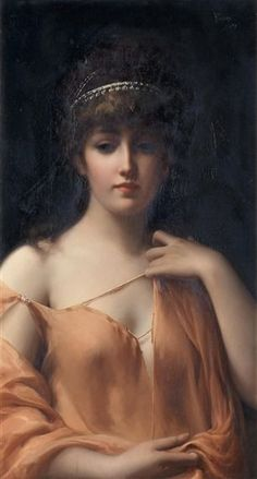 © Luis Ricardo Falero, duca di Labranzano (Granada, 1851 – Londra, 7 dicembre 1896) - A Classical Beauty