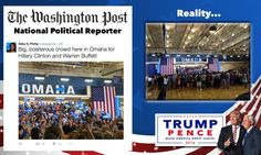 Liberal Media vs Reality painting a picture that Hillary's rally was a big turnout. SAD