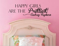 Happy Girls Are the Prettiest Audrey Hepburn Vinyl Wall Decal Sticker #LuckyGirlDecals #beautiful #budget #custom #cute #decal #decals #decor #decorating #design #family #fun #gifts #graphics #happy #home #homedecor #interiordecorating #interiordesign #lettering #letters #love #luckygirldecals #oracal631 #personalized #pretty #quote #quotes #remarkablewalls #sticker #stickers #style #vinyl #vinyldecal #vinylfilm #vinylwalldecal #wall #wallart #walldecal #walldecor #wallquote #wallquotes…