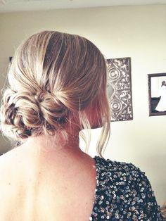 blonde, fishtail, updo, wedding hair, prom hair, braid